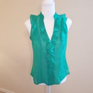 Sleeveless Dress Shirt XS Express Design 🌵